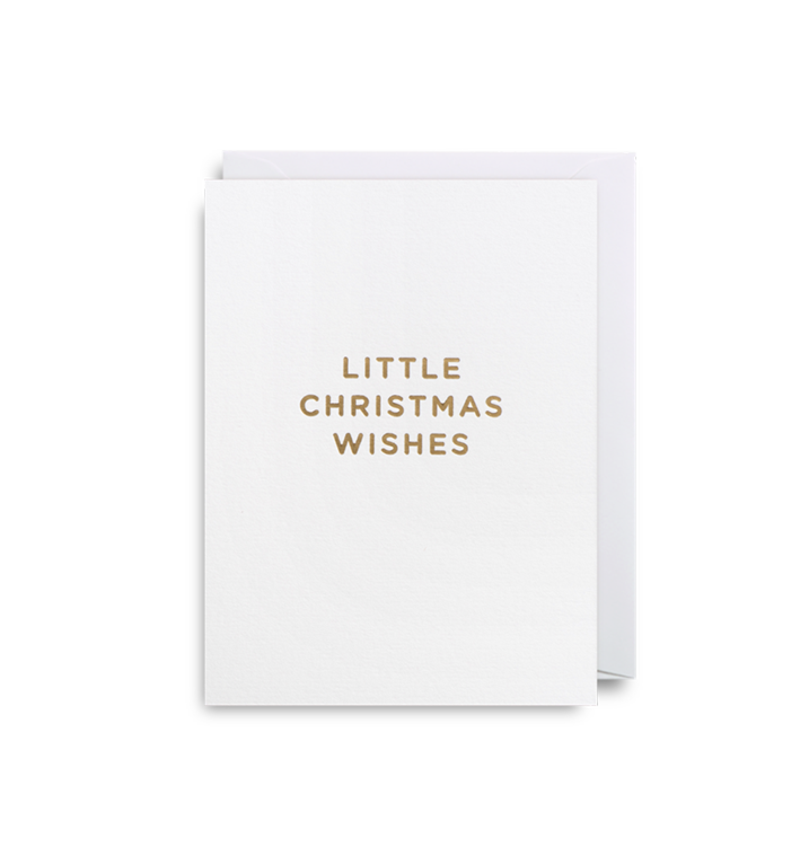 'Little Christmas wishes' card