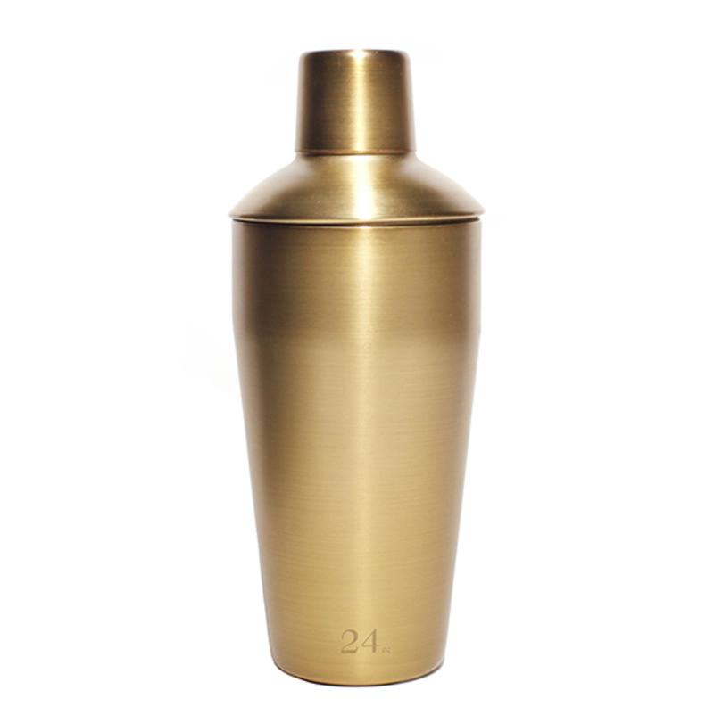 Stainless steel cocktail shaker gold
