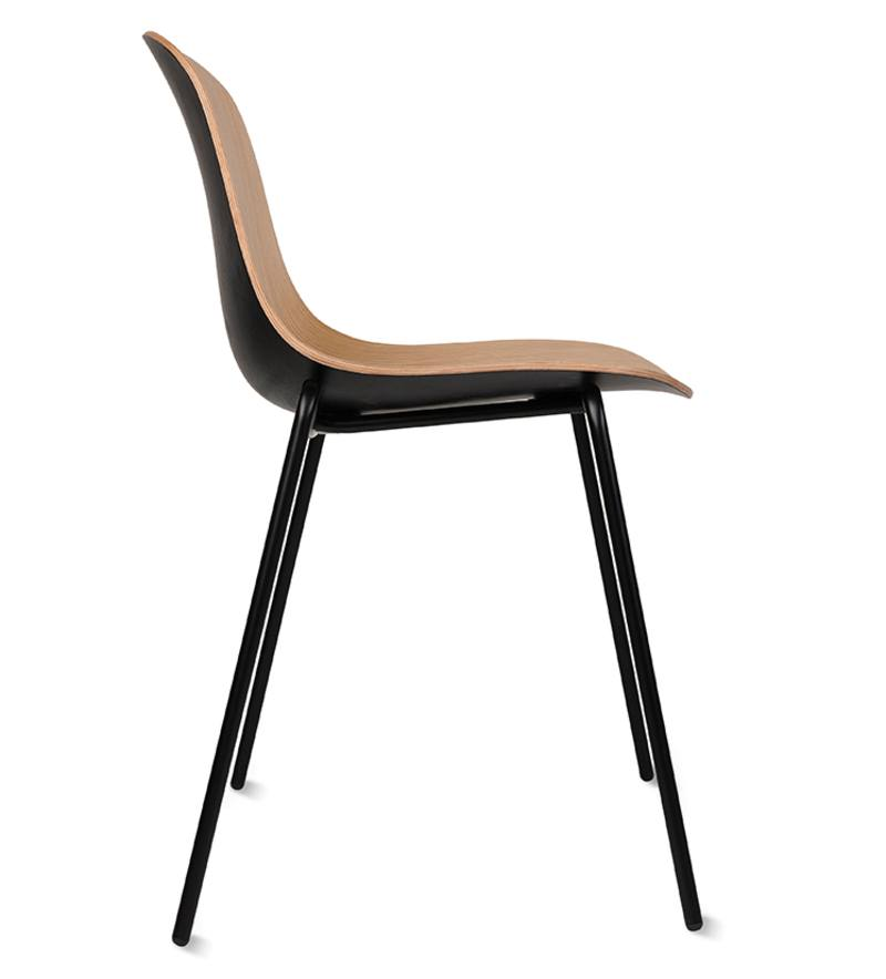 3D oak dining chair natural & black