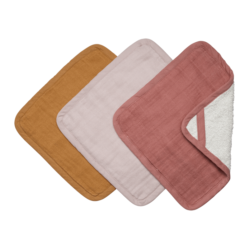 Organic cotton washcloths pack of 3