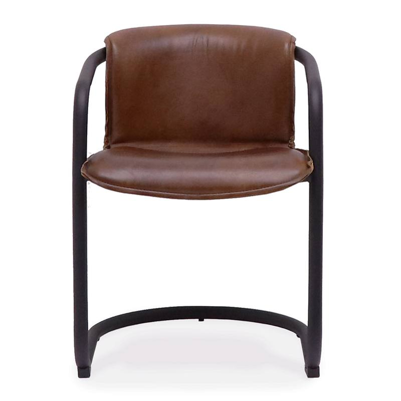 Bealey leather dining chair