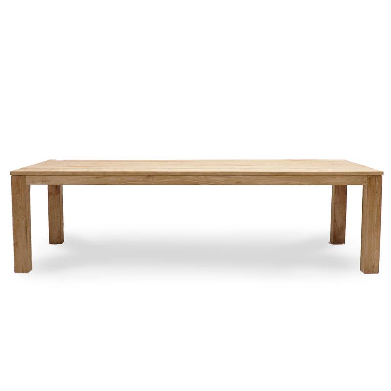 Recycled teak outdoor dining table 300cm long