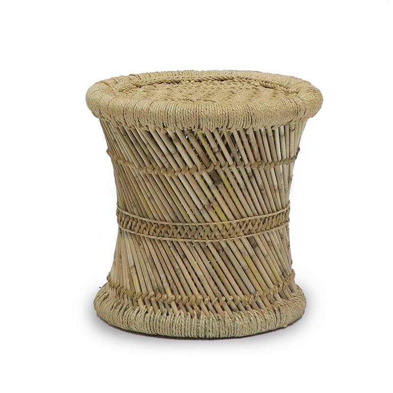 Bamboo Jute Rope Stool In Nz Green With Envy