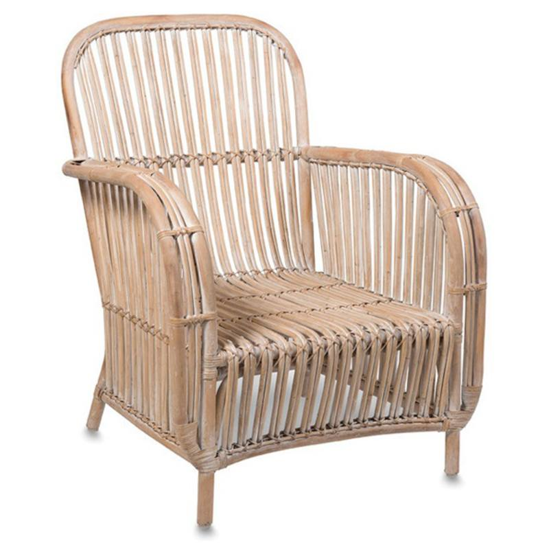 Large rattan armchair