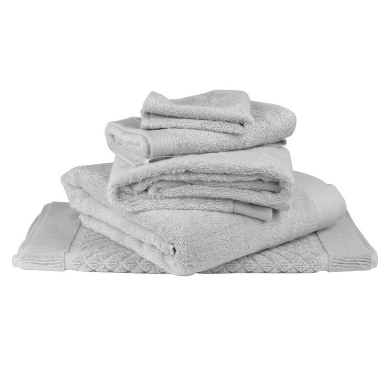 Bamboo cotton towel range silver