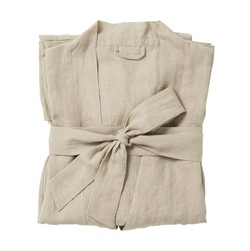 Women's linen dressing gown