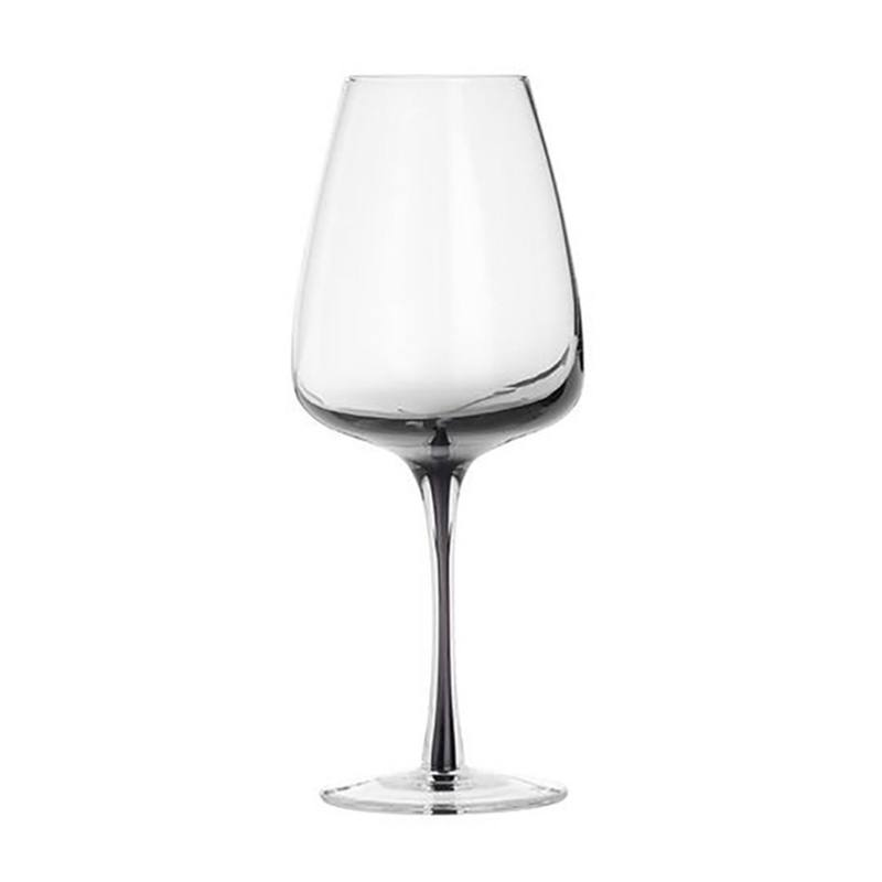 Smokey grey white wine glass