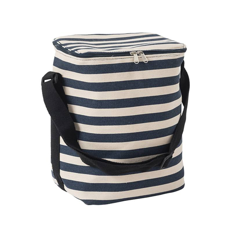 Striped chiller bag