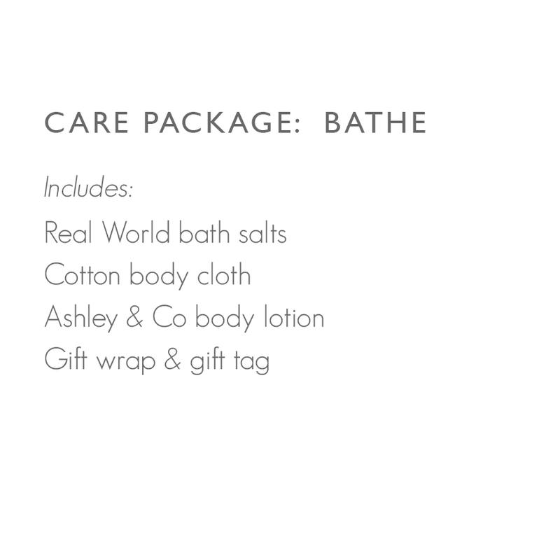 Care package: Bathe