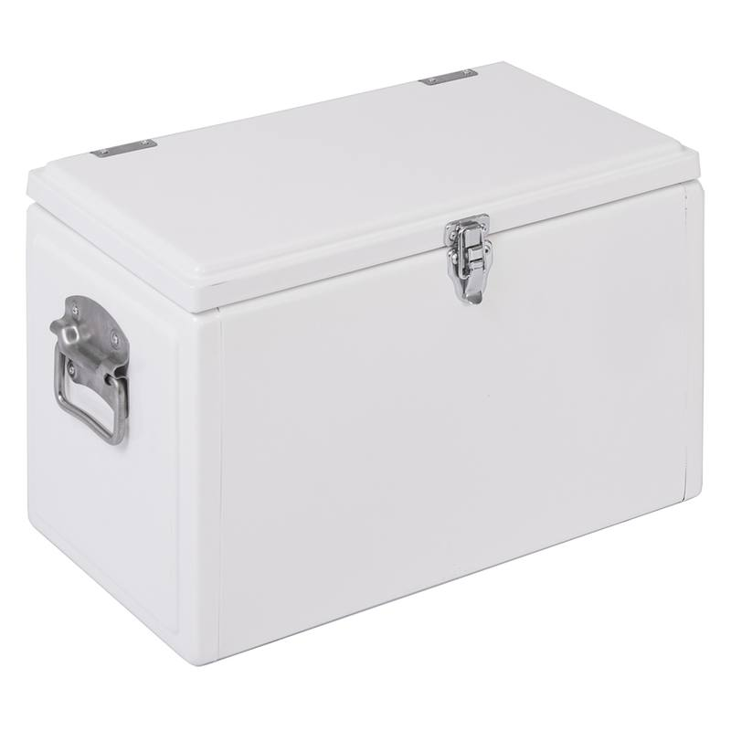Enamel chilly bin white