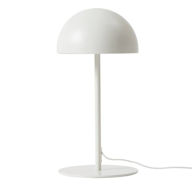 Dome table lamp white