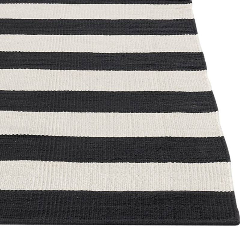 Indoor/outdoor striped floor rug in NZ