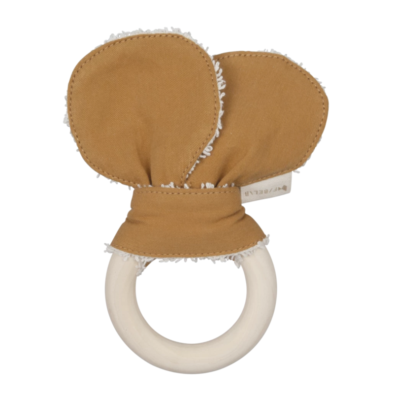Organic cotton bear ears teether