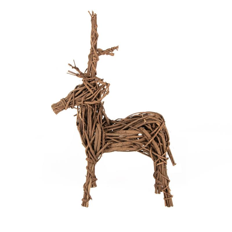 Twisted vine freestanding reindeer small