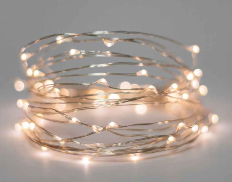 Battery fairy lights on wire 5m