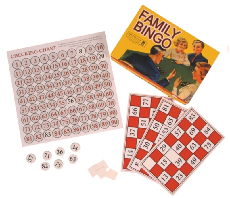 Retro family bingo