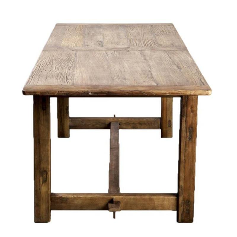 Recycled elm dining table 184cm long