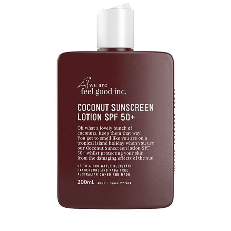Feel Good sunscreen lotion coconut SPF50
