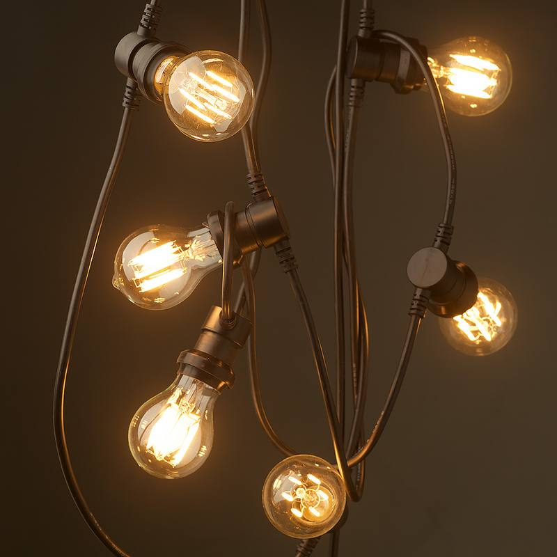 Filament bulb festoons lights