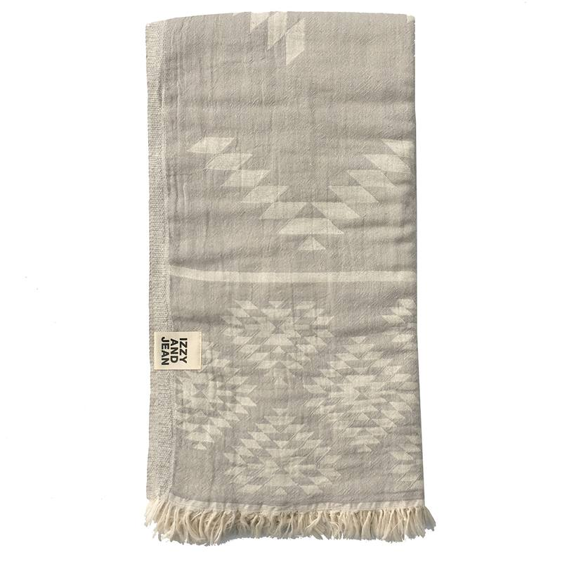 Kilim Turkish towel pale grey