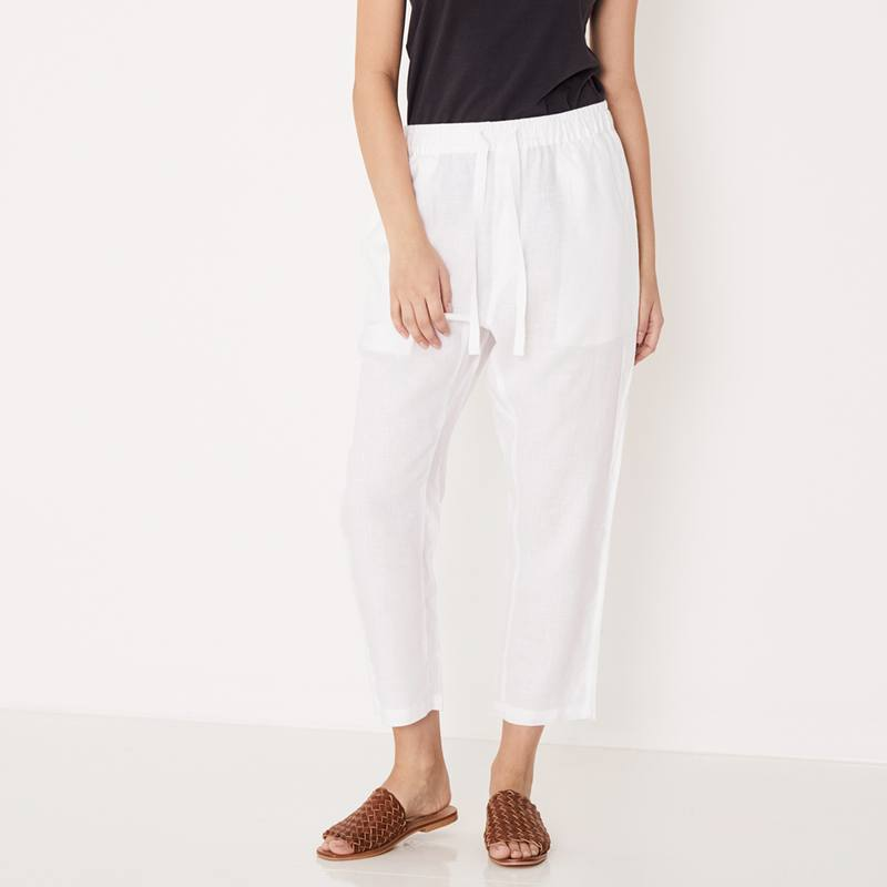 Assembly Label Anya drawstring linen pants white