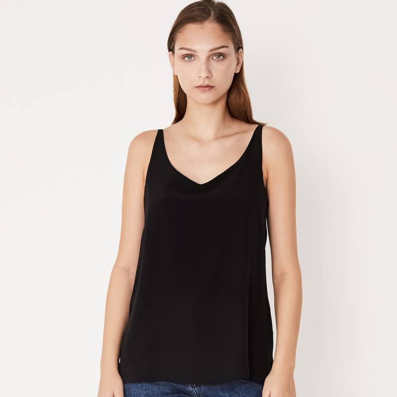 Assembly Label silk deep V cami