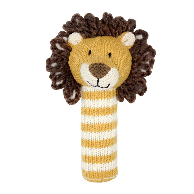 Fabric lion rattle