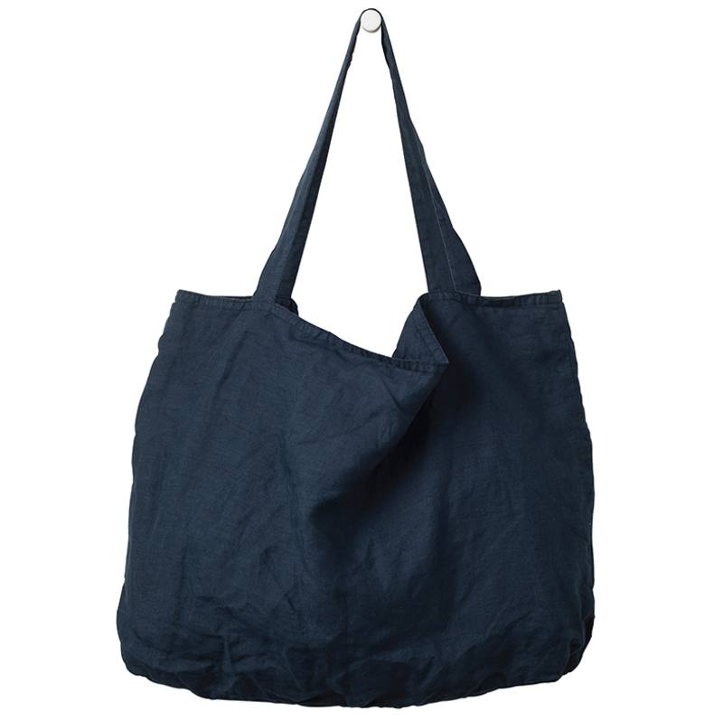 Linen beach bag ink