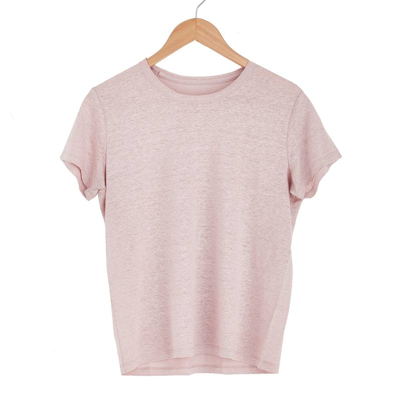 Essential linen tee blush