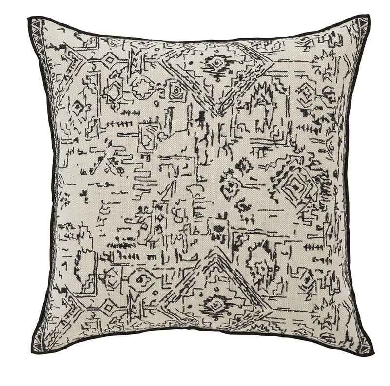 Malbec hand embroidered linen cushion cover