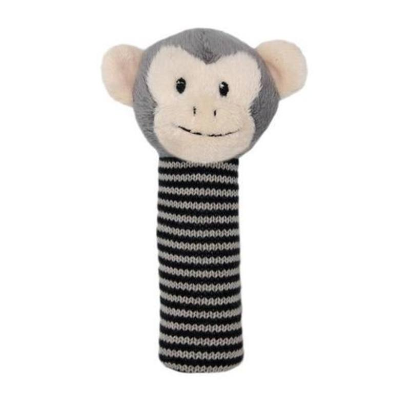 Fabric monkey rattle