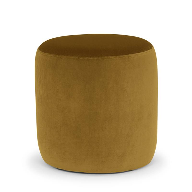 Mini Drum Ottoman In Nz Green With Envy