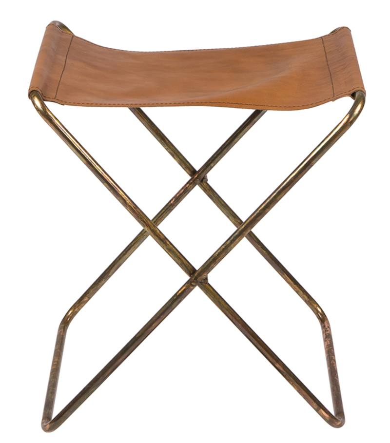 Tremendous Leather Folding Stool From Green With Envy Ibusinesslaw Wood Chair Design Ideas Ibusinesslaworg