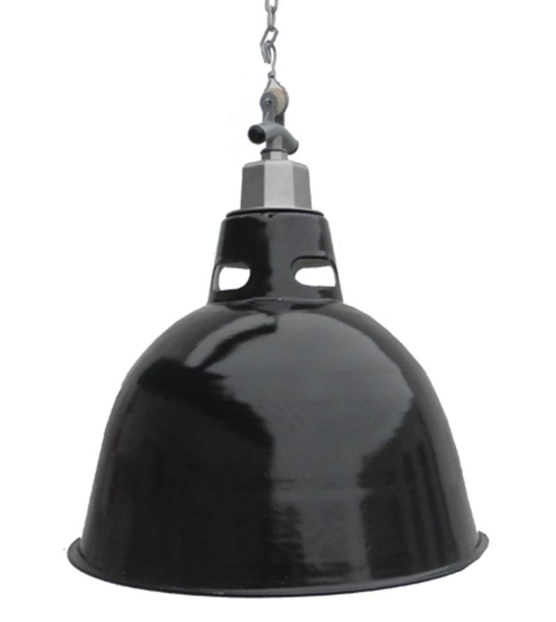 Cloche open neck enamel lightshade