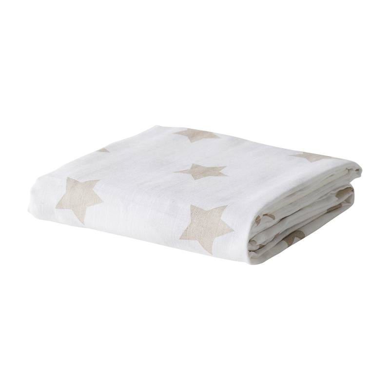 Baby organic cotton wrap gold star