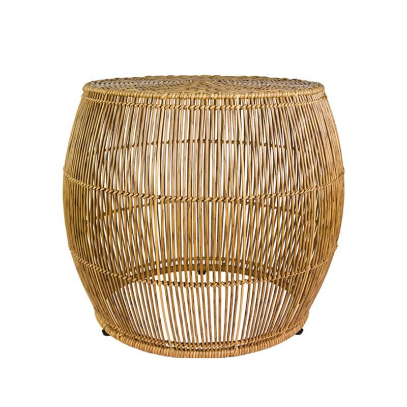 Outdoor open side table natural