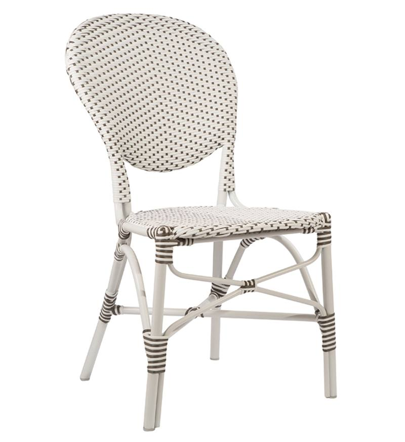 Outdoor dining chair with aluminium frame