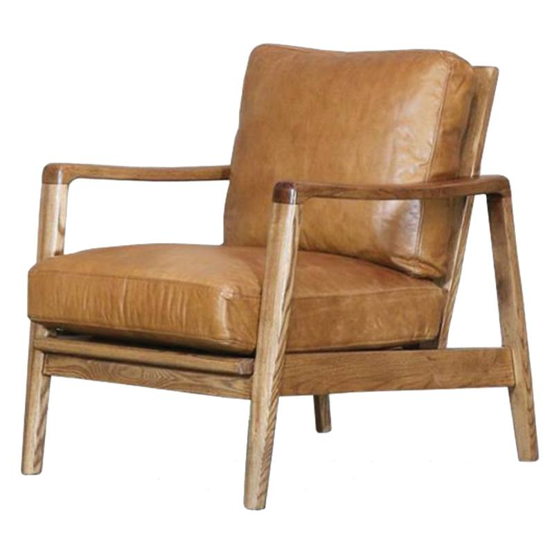 Reid leather armchair tan