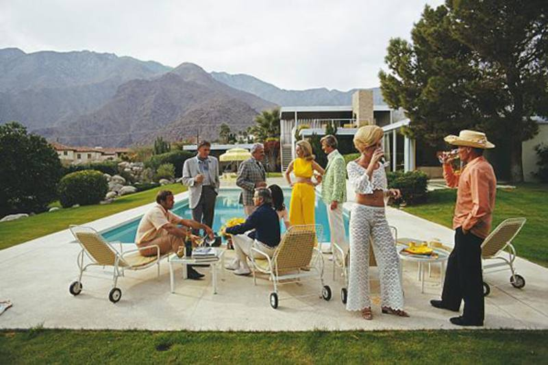 Slim Aarons 'Desert House Party' photographic print
