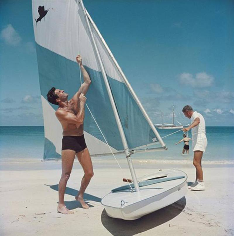 Slim Aarons 'Boating in Antigua' photographic print