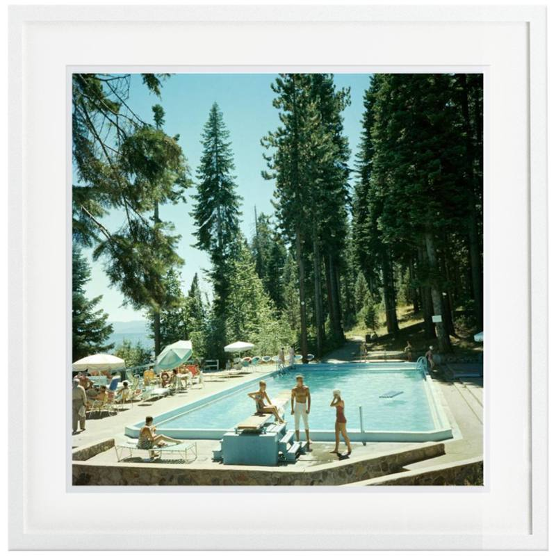Slim Aarons 'Pool at Lake Tahoe' framed print