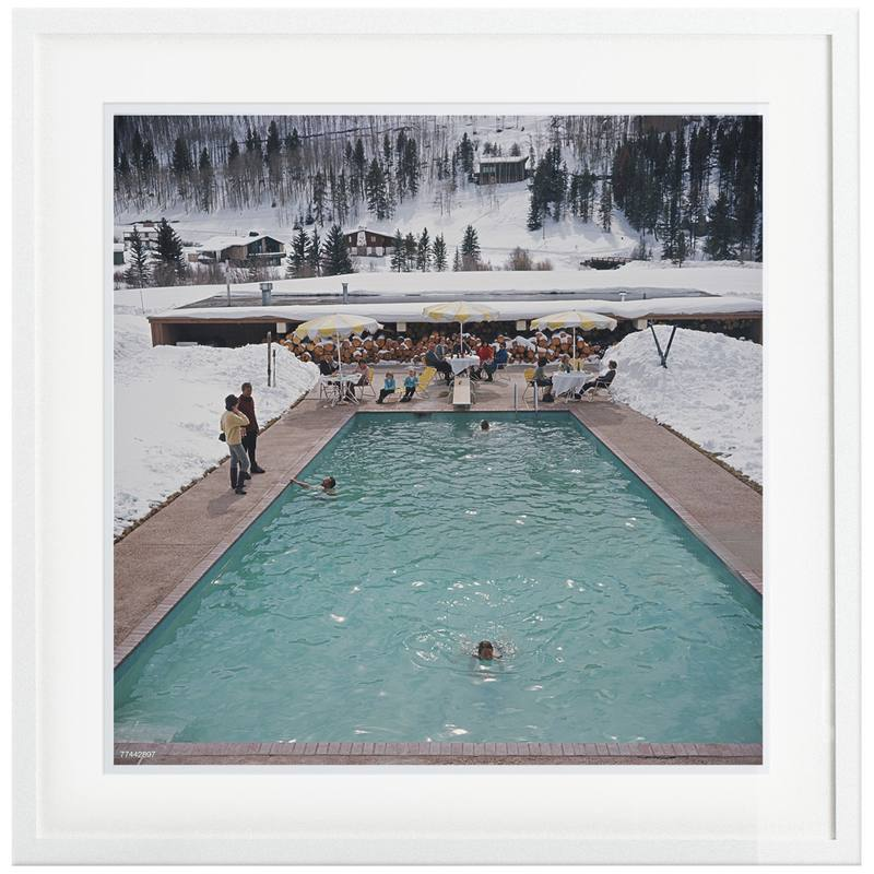 Slim Aarons 'Snow Round the Pool'  framed print