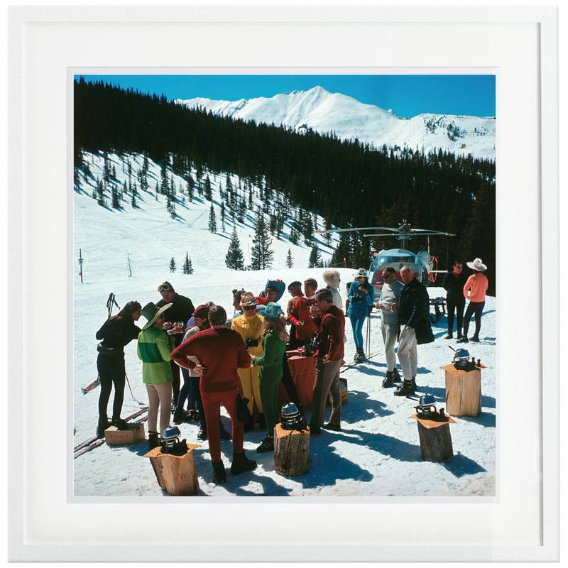 Slim Aaron's 'Snowmass Picnic' framed print