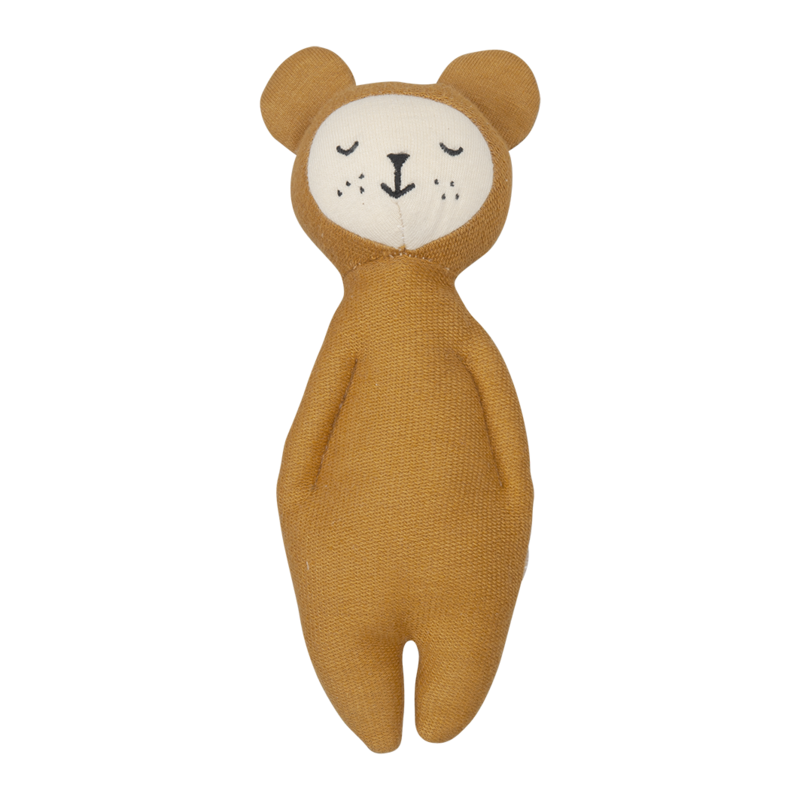 Soft organic rattle bear