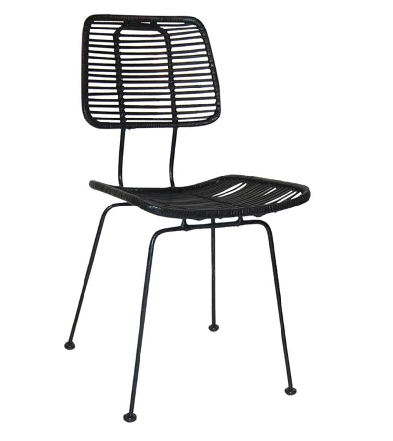 Black studio dining chair