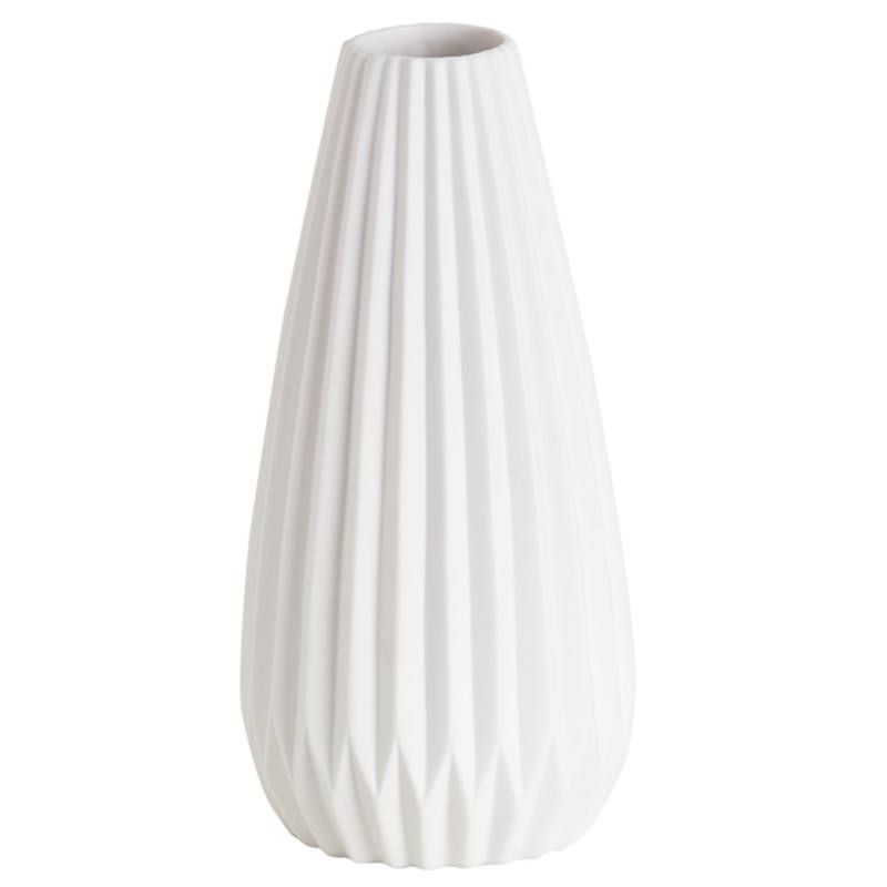Linear Ceramic Vase In Nz Green With Envy