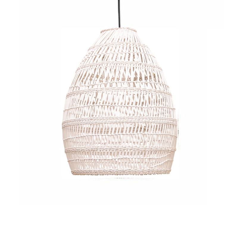 Firth rattan shade whitewash small