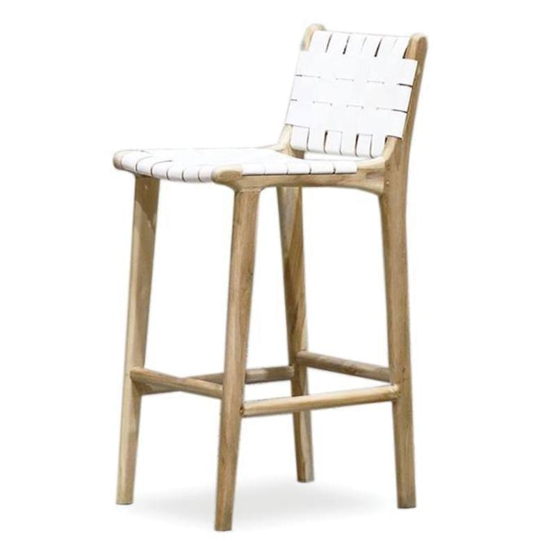 Admirable Woven Leather Bar Stool 73Cm High From Green With Envy Onthecornerstone Fun Painted Chair Ideas Images Onthecornerstoneorg