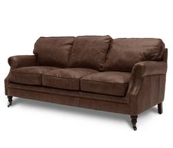 Buy Princeton 3-seater sofa aged brown in NZ New Zealand.