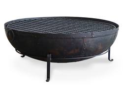 Buy Iron fire bowl with stand 120cm in NZ New Zealand.